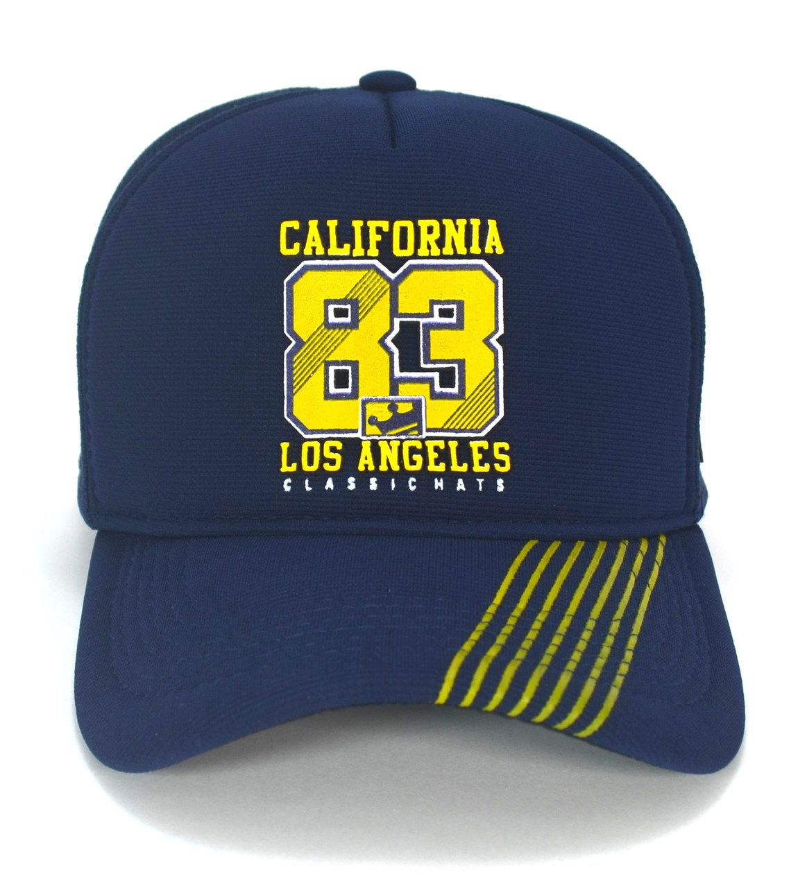 Boné California 83 Aba Curva Los Angeles Azul Snapback Masculino Feminino
