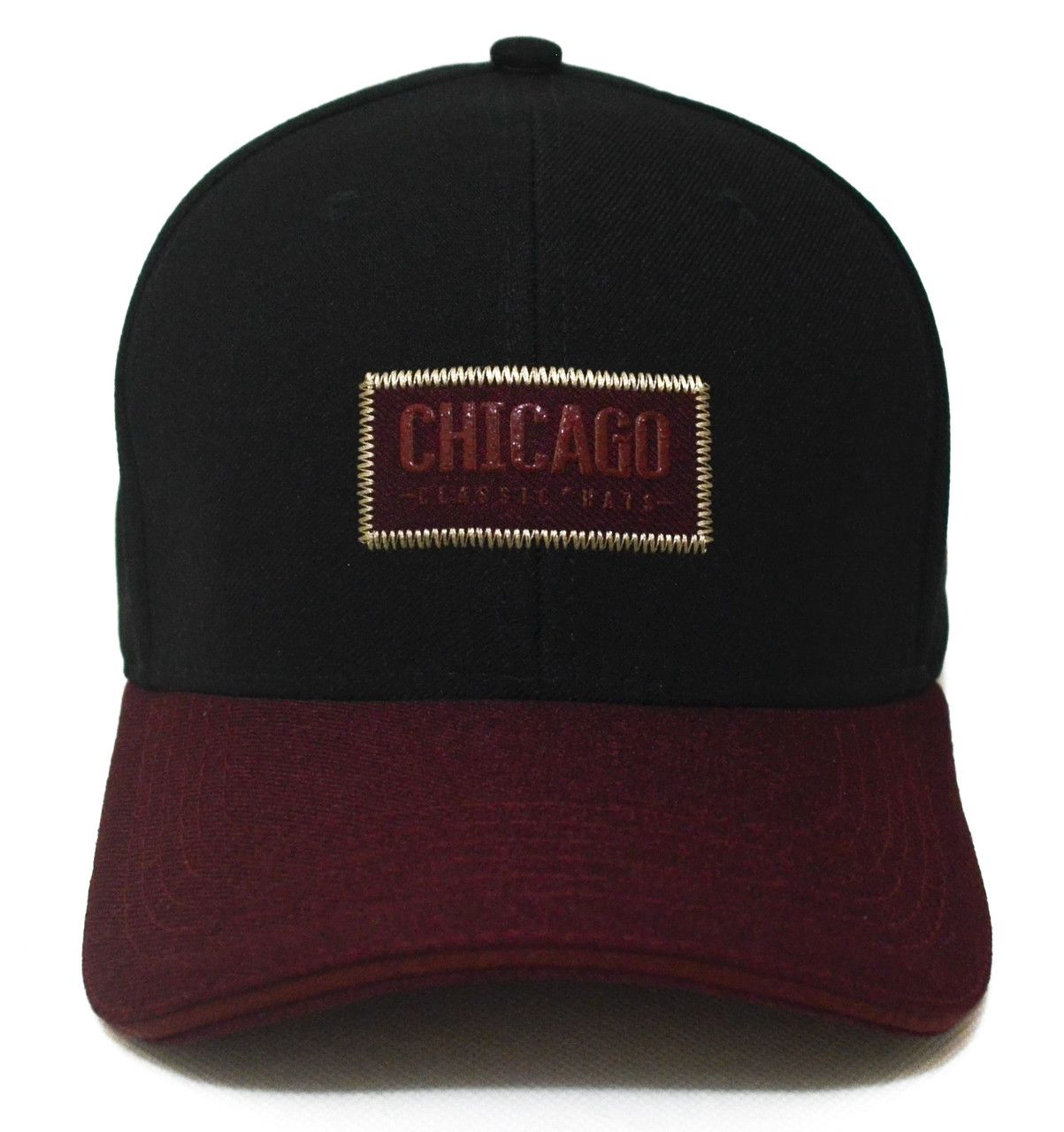 54fa1ba9ac93c ... Boné Casual Chicago Aba Curva Unissex Duas Cores Classic ...