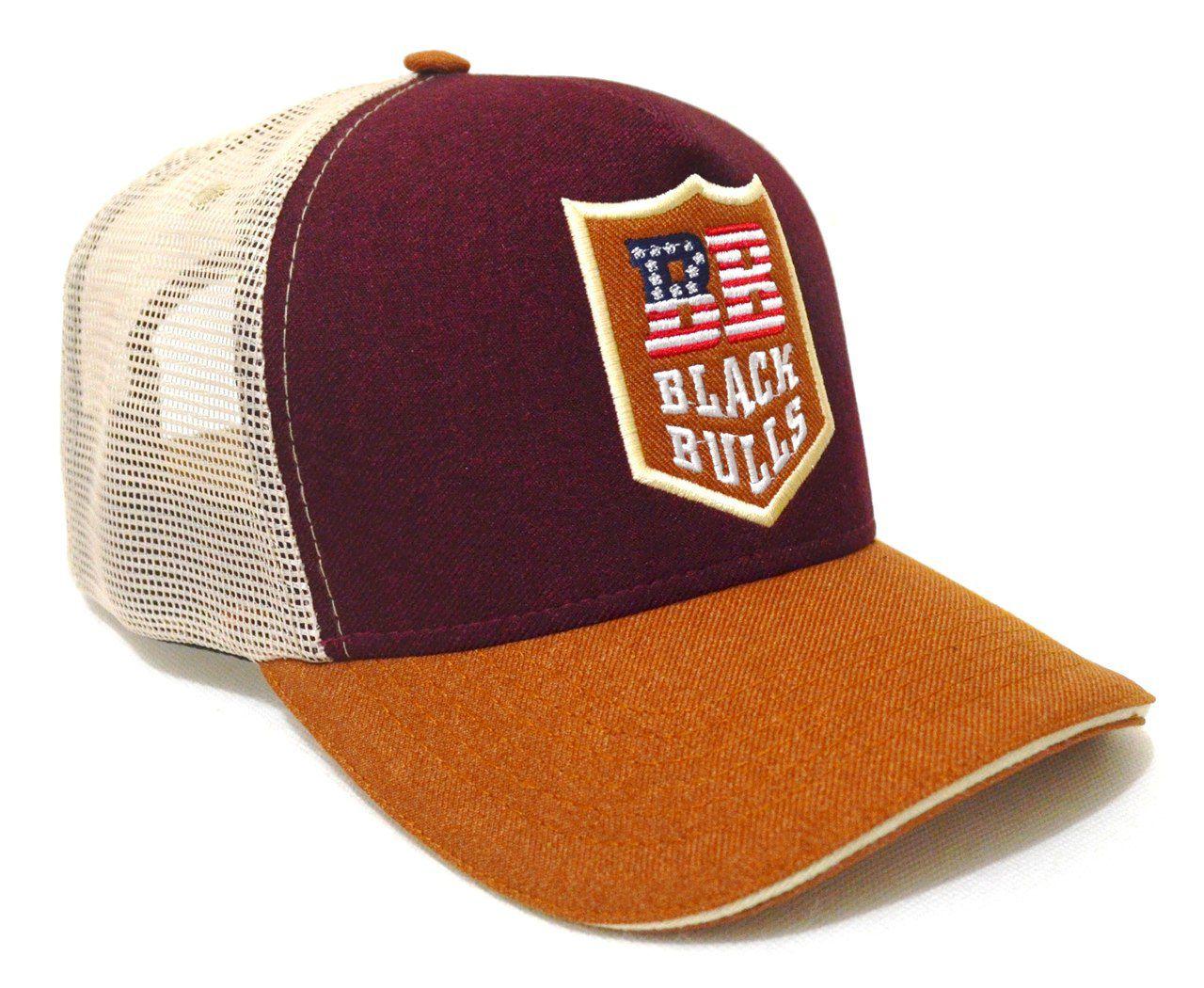 Boné Country Black Bulls Tricolor - Aba Curva Unissex 9e57b871b615f