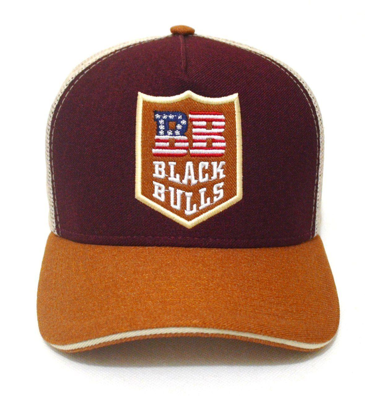 ... Boné Country Black Bulls Tricolor - Aba Curva Unissex ... 21255c2457d