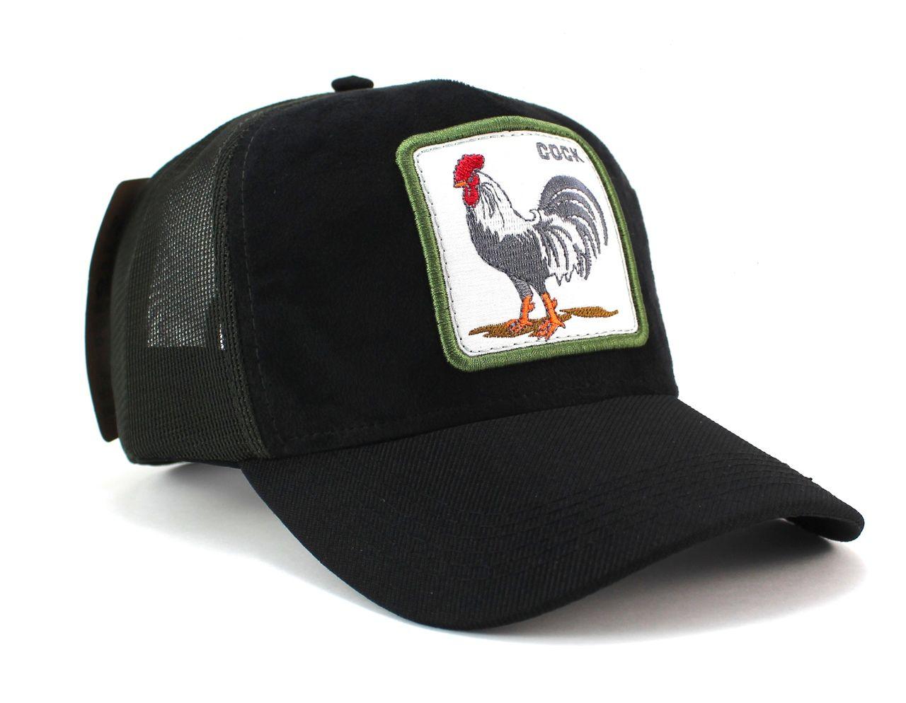 Boné Country Galo Cock Masculino Feminino Aba Curva Trucker Tela