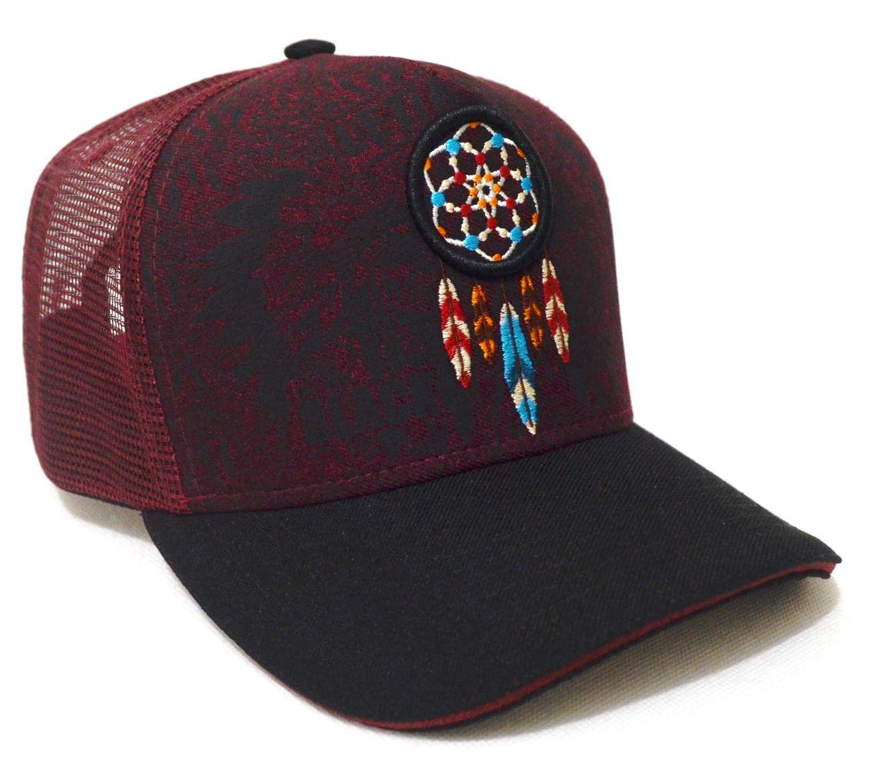 Boné Country Índio Apache Filtro dos Sonhos - Aba Curva