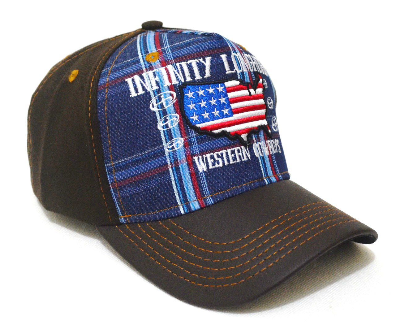 Boné Country Infinity Longhorn Estados Unidos Unissex Aba Curva - Bordado  de Precisão e Ajuste de 2fa78f9cd0f