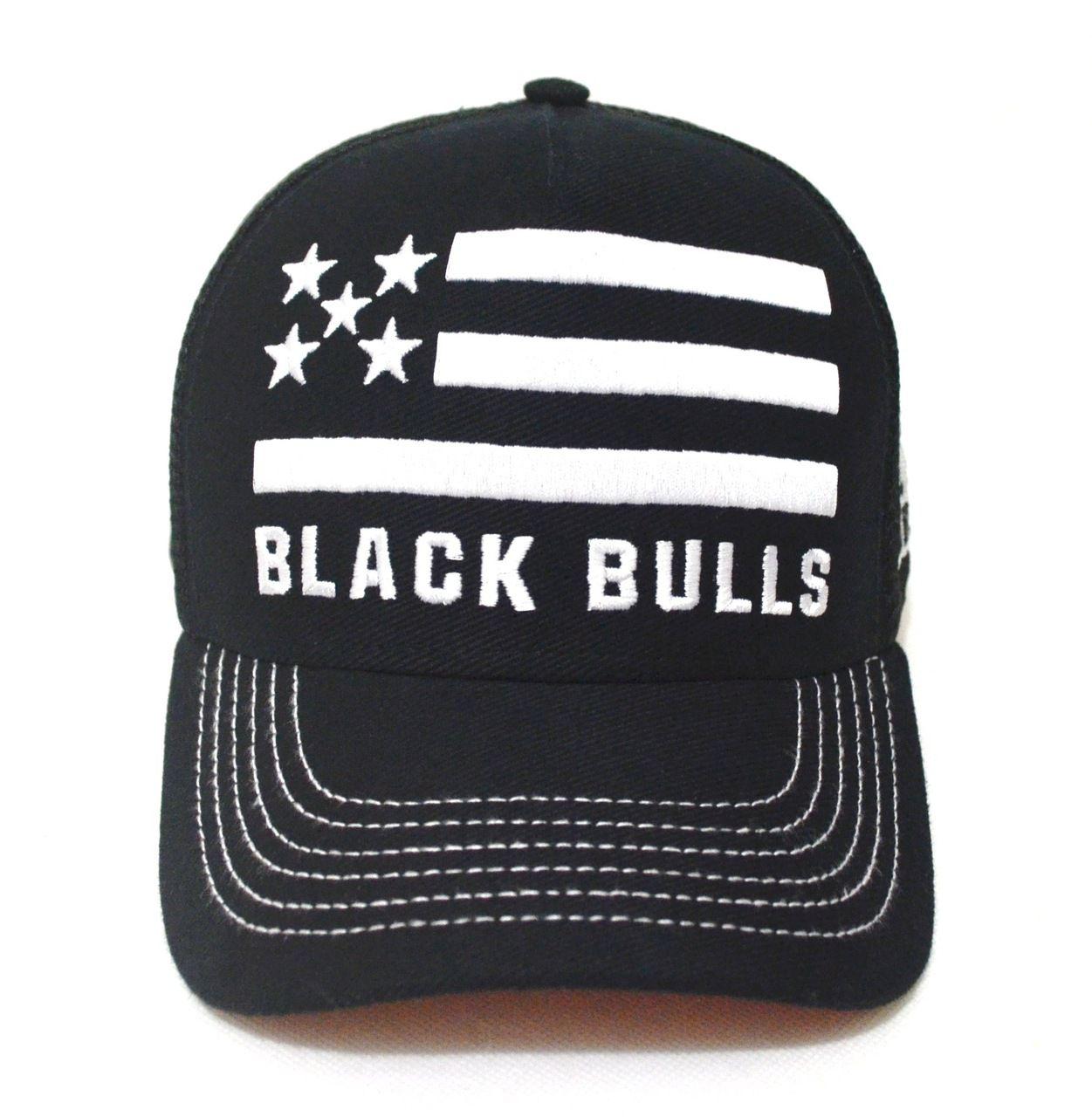 0e958493a8519 Boné Country Preto Bandeira Americana Aba Curva Black Bulls