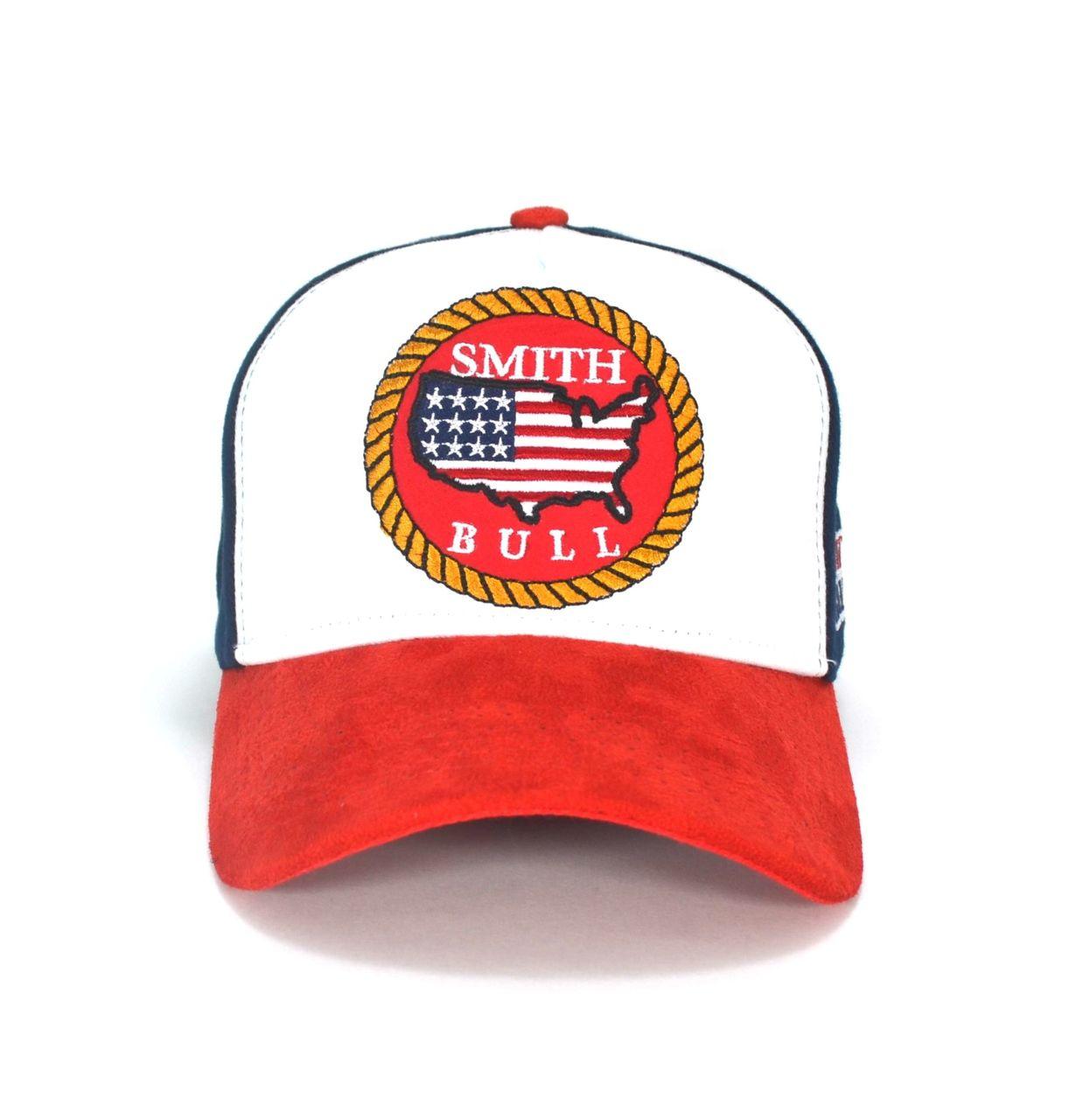 Boné Country Smith Bull Aba Curva Masculino Feminino Tricolor Estados Unidos
