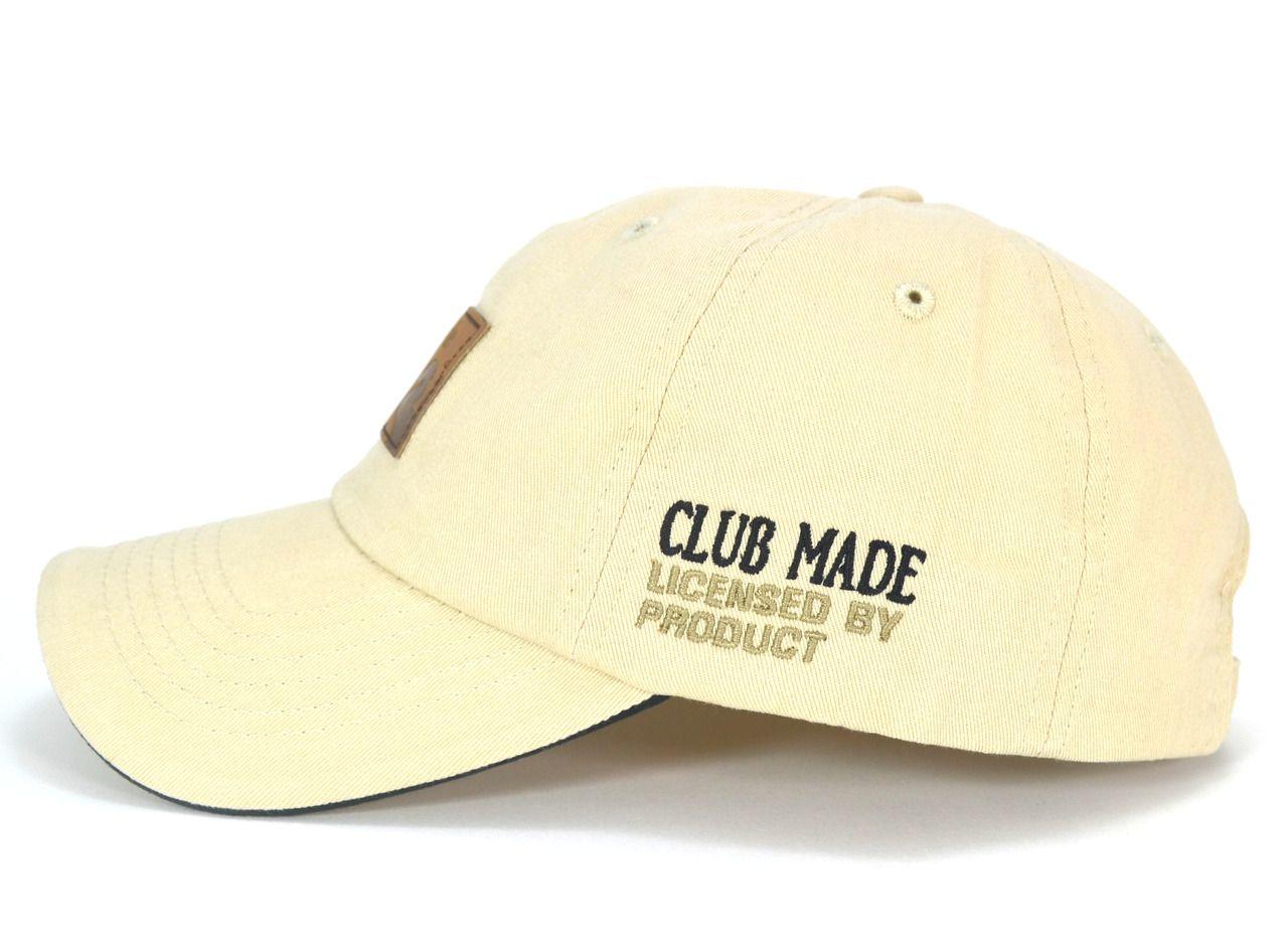 Boné Creme Importado de Fita Club Made Sport Aba Curva - Pronta Entrega