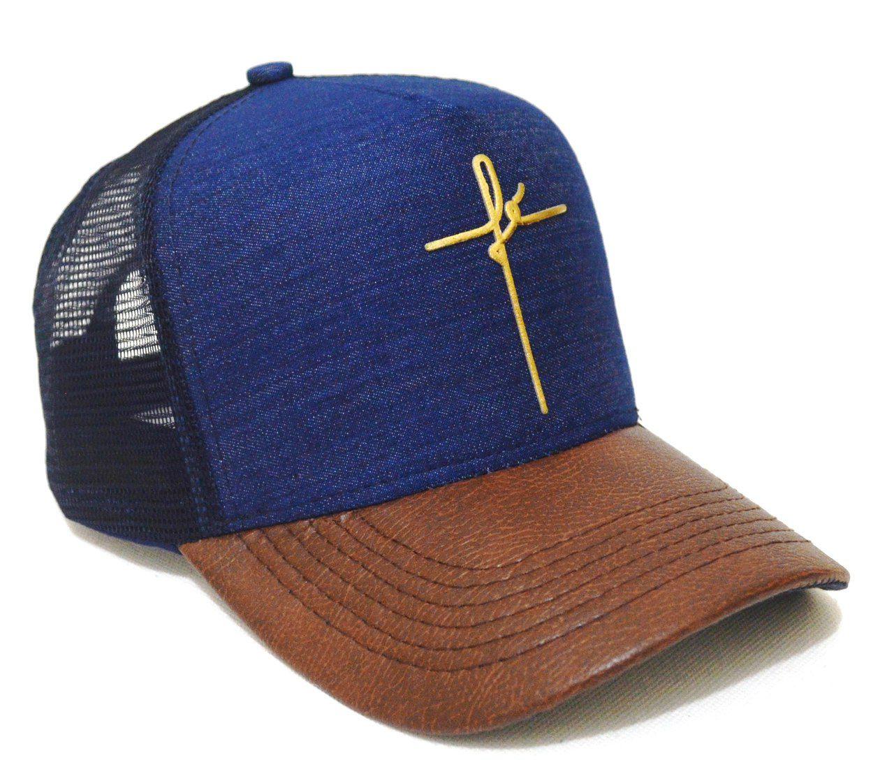 Boné Fé Cruz Jesus Aba Curva Unisex Novela Snapback 3c06c0d190b