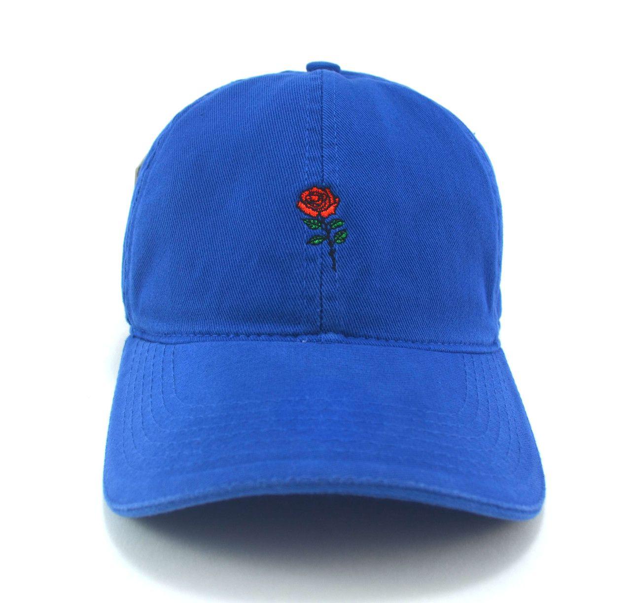 Boné Flor Masculino Feminino Azul Aba Curva - Fita e Fivela