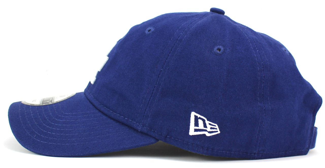 Boné LA Los Angeles Dodgers MLB New Era Aba Curva de Fita Strapback Masculino Feminino 9Twenty