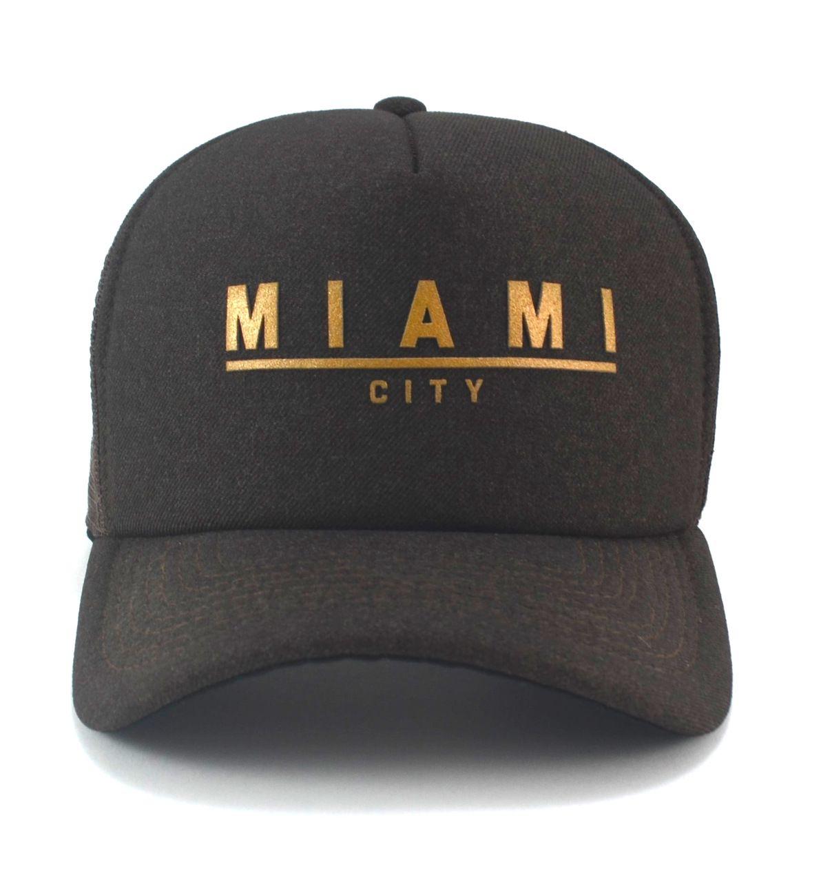 Boné Miami City Aba Curva Sugar Brown Unisex