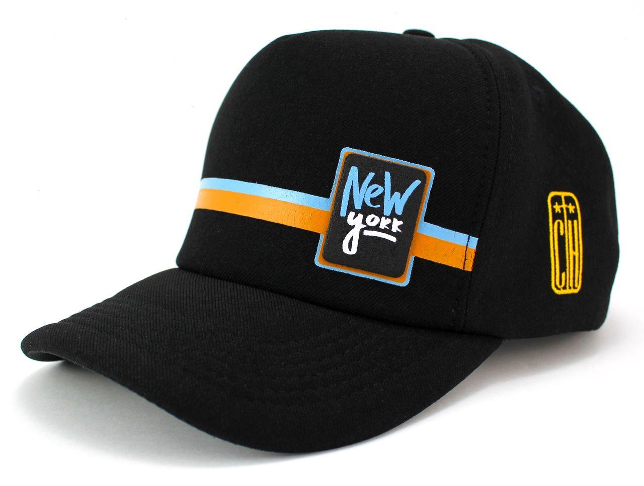 Boné New York Preto Aba Curva Classic Hats