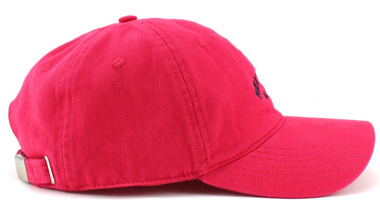 Boné Pink New York USA Aba Curva Casual com Regualgem de Tamanho