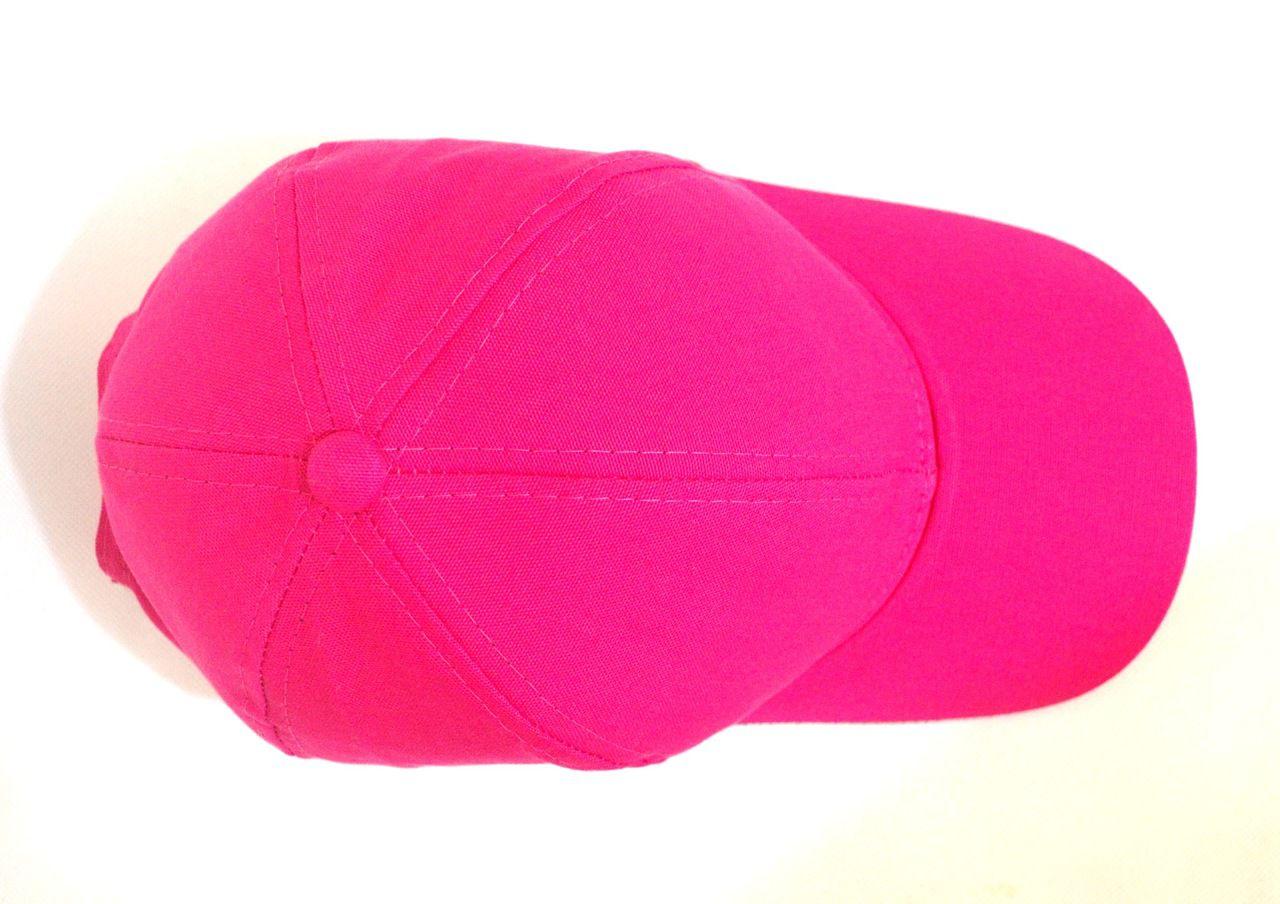 Boné Rosa Pink Liso Aba Curva Unissex com Regulagem de Tamanho - Super Leve