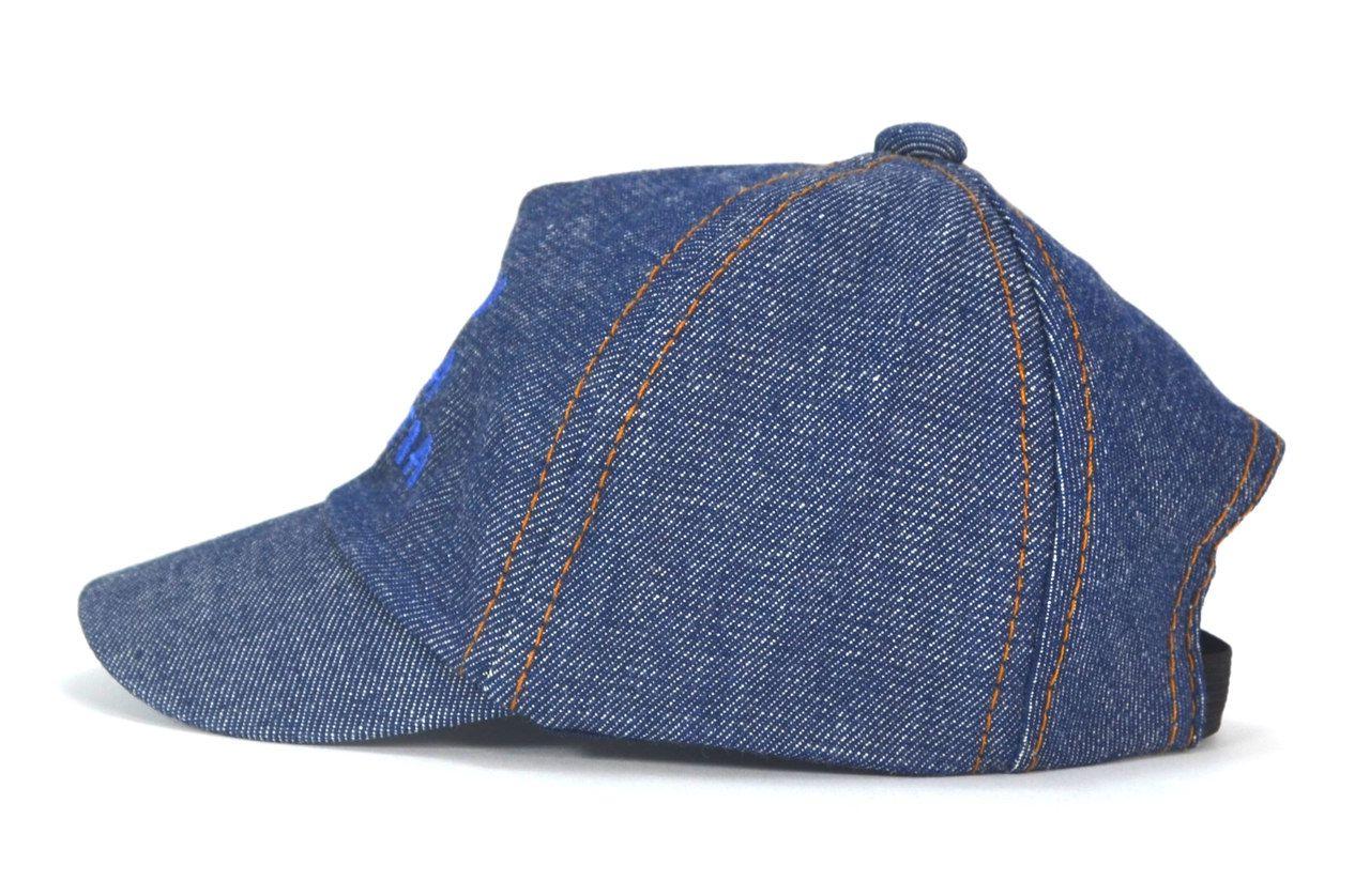 Boné Ursinho Bebê Jeans Conforto Aba Curva - Para Crianças de Até 1 ano