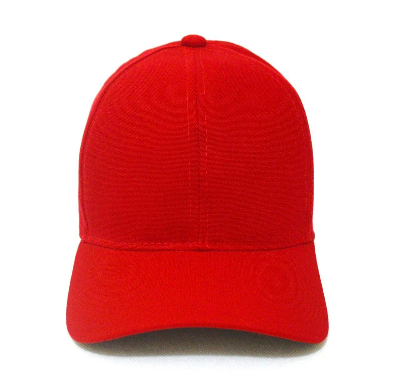 Boné Vermelho Liso Unisex Aba Curva - Super Leve e com Ajuste de Tamanho