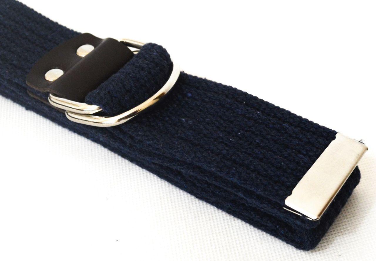 Cinto Azul Marinho Lona Unissex Fivela Metálica Deslizante 125 Cm