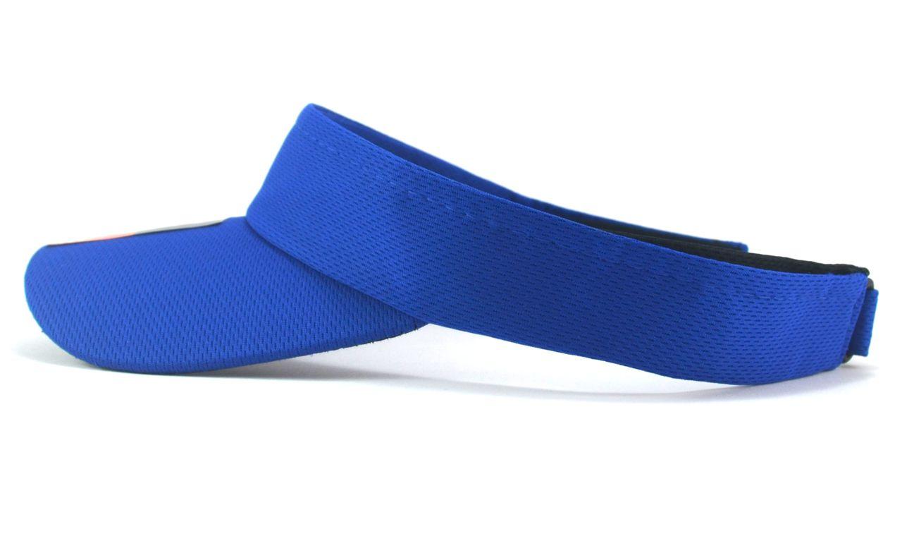 Viseira Azul Lisa Feminina Masculina com Ajuste de Tamanho
