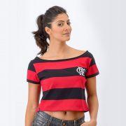 Camisa Flamengo Feminina Retrô Baby Look Cropped