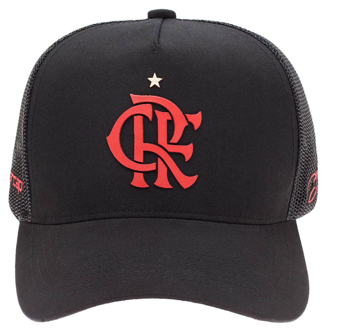 Boné Flamengo Zico Trucker CRF Aba Curva