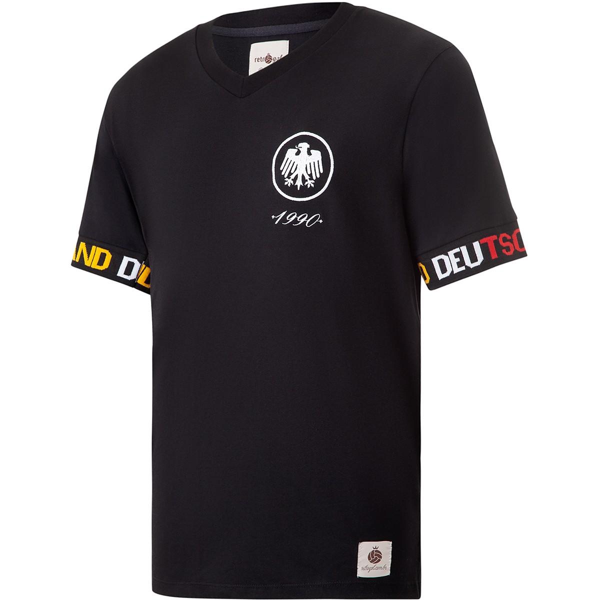 Camisa Alemanha Retrô Sleeve Masculina