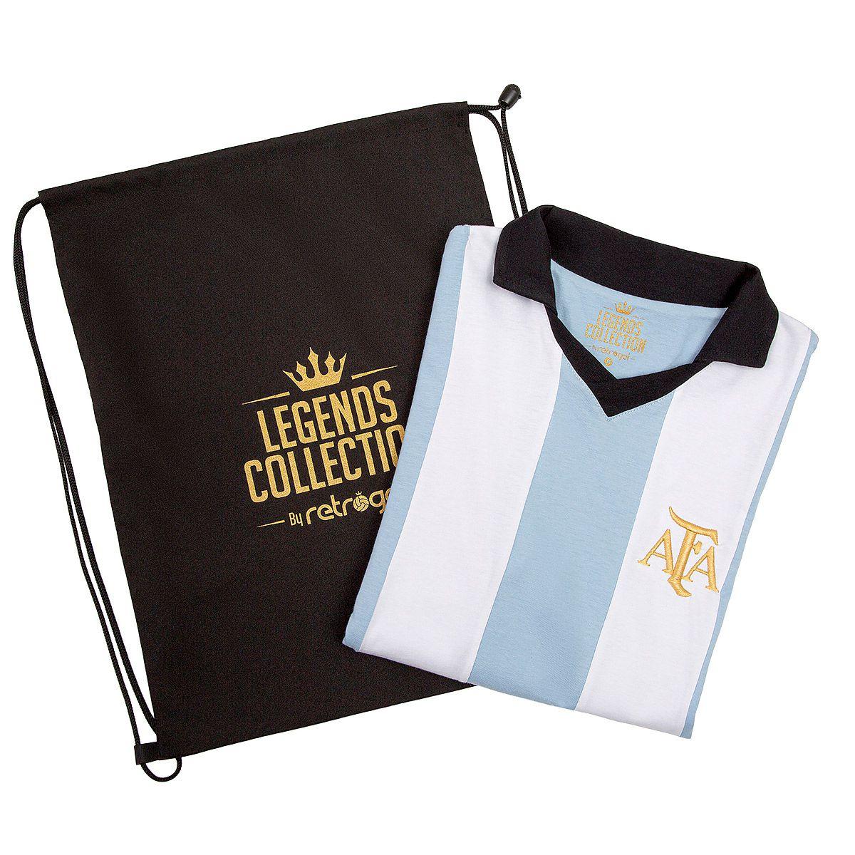 Camisa Argentina Retrô Legends Collection + Sacola