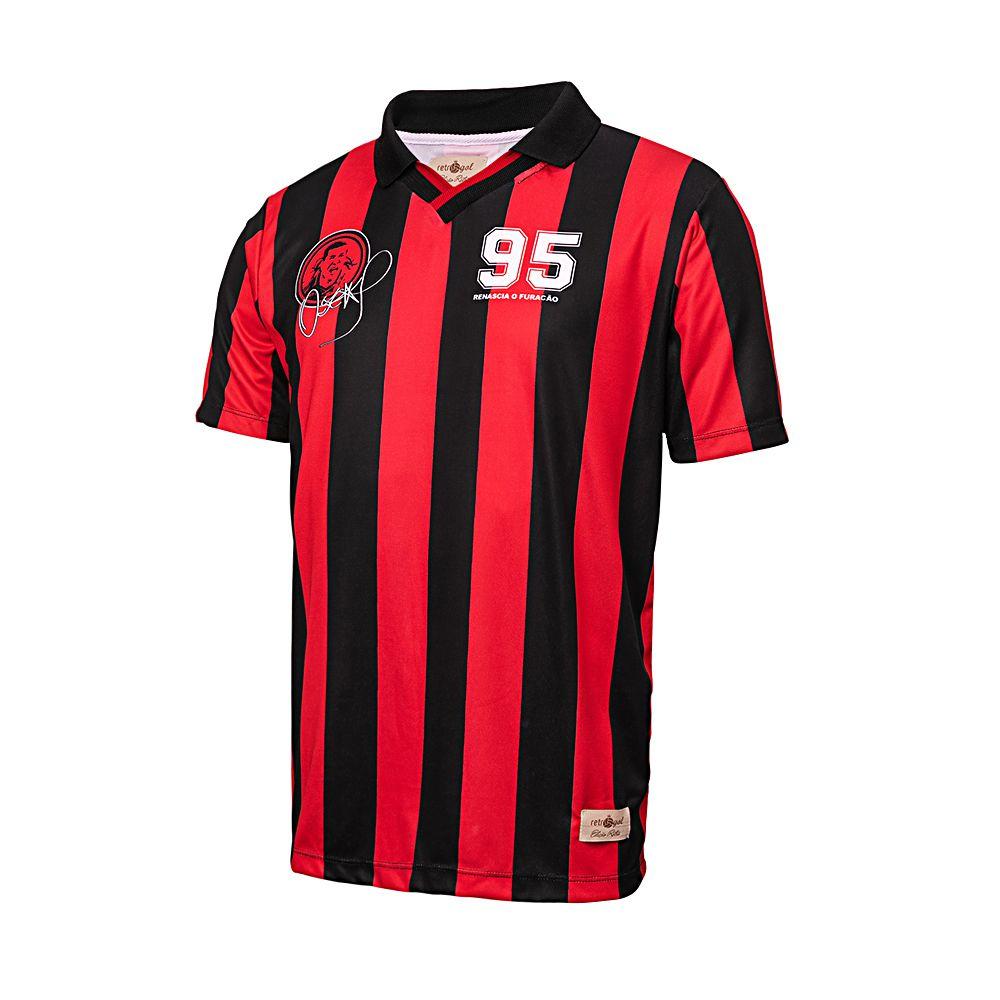 Camisa Athletico Paranaense Retrô Gol Oséas 95 Masculina
