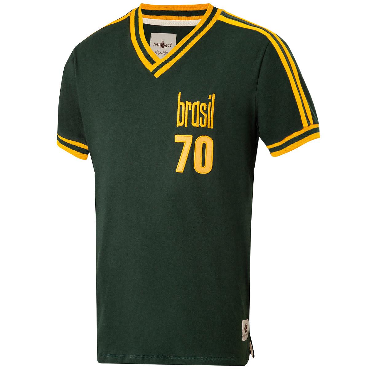 Camisa Brasil Retrô Treino 1970 Masculina