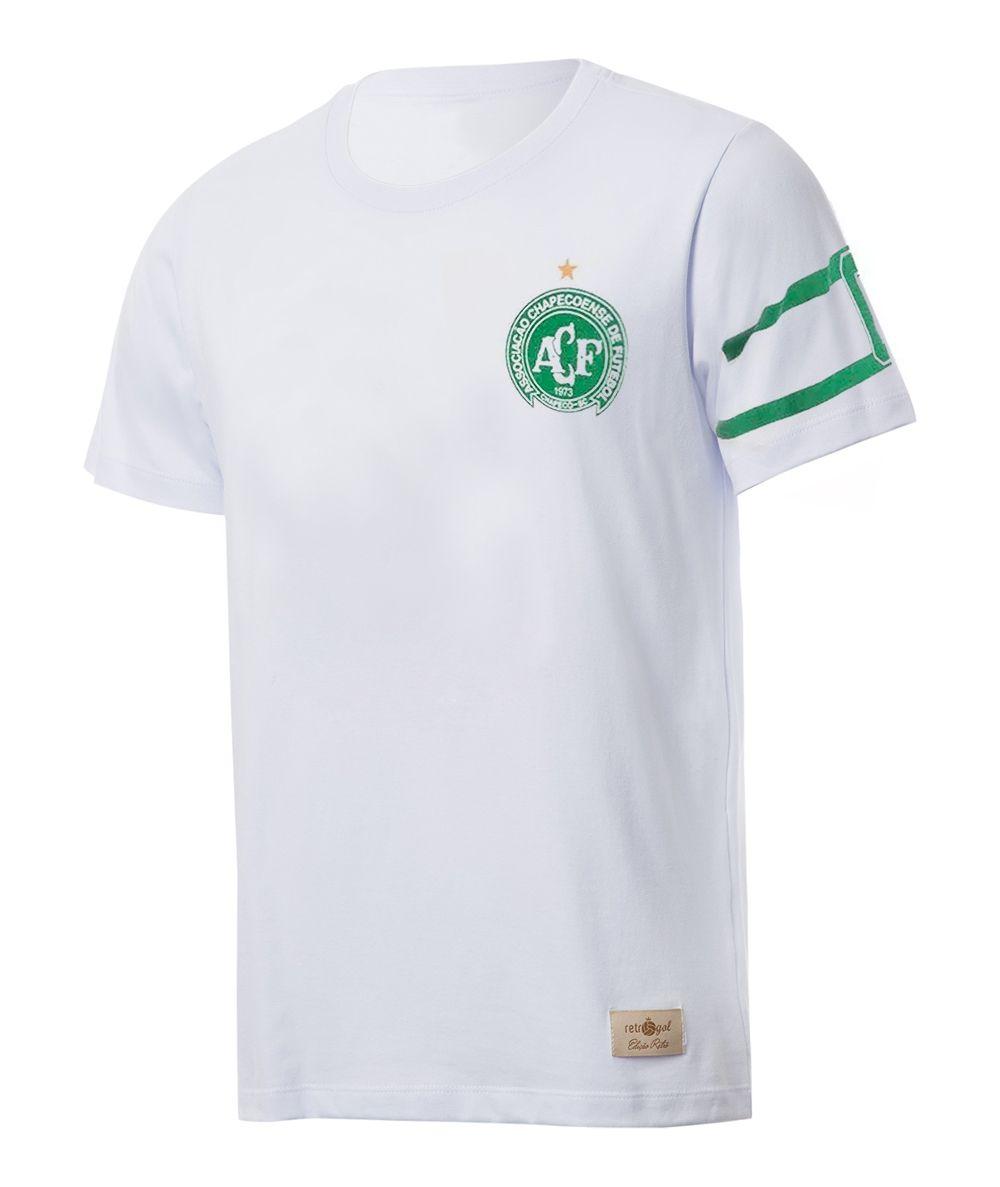 Camisa Capitão Retrô Gol Torcedor Chapecoense Branca