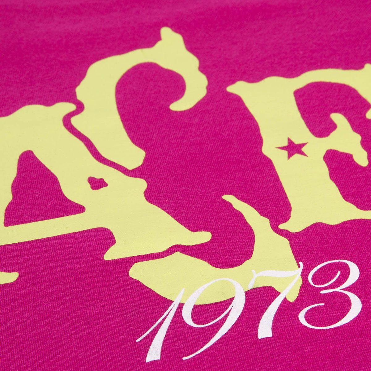 Camisa Casual Baby Look Retrô Gol Chapecoense Torcedor 1973 Pink