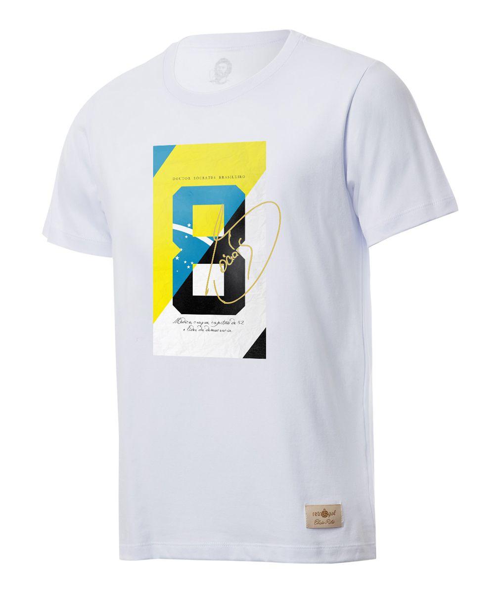 Camisa Casual Retrô Gol Sócrates Ex - Corinthians 8