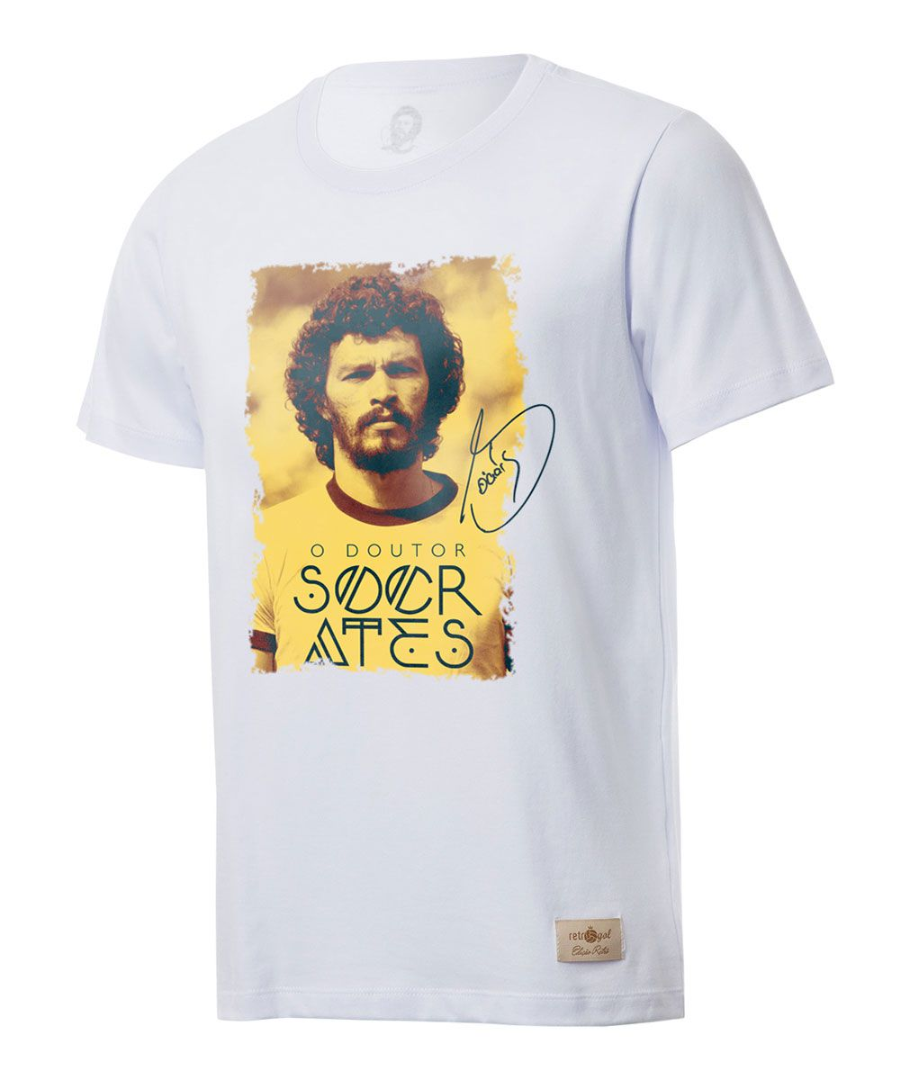 Camisa Casual Retrô Gol Sócrates Ex - Corinthians Seleção
