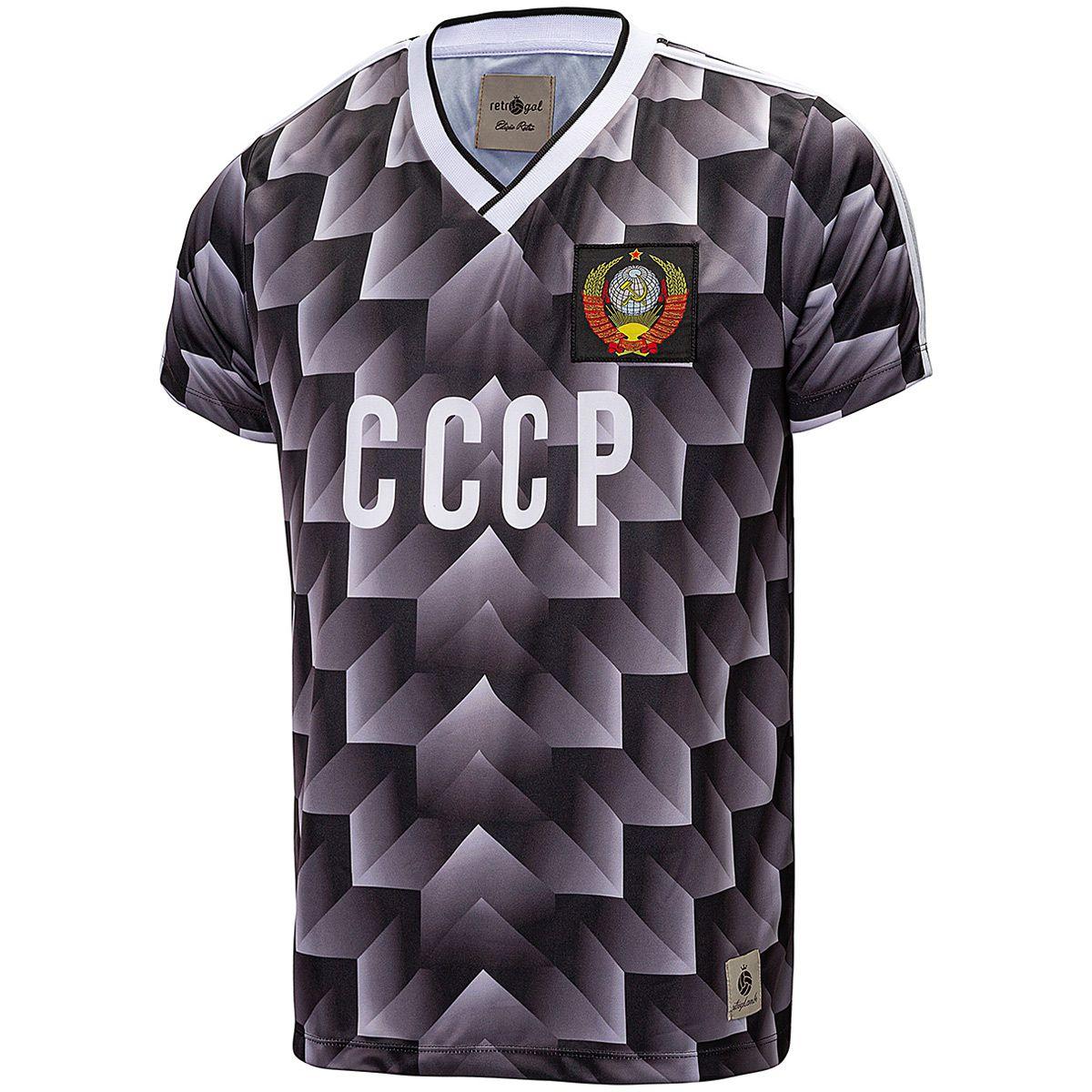 Camisa CCCP Retrô 1988 União Soviética Preta Masculino