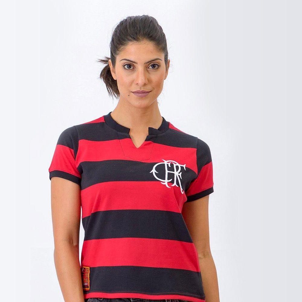 ee9e9f3899 Camisa Flamengo Feminina Retrô Baby Look Tri-Carioca 1979 - Retrôgol