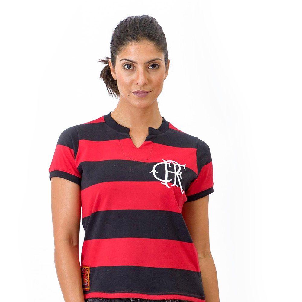 Camisa Flamengo Feminina Retrô Baby Look Tri-Carioca 1979