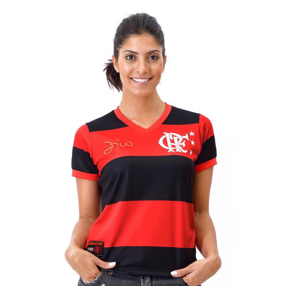 Camisa Flamengo Retrô Zico Libertadores DRY Feminina