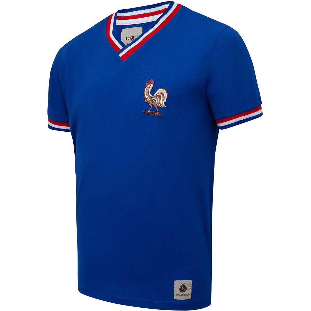 Camisa França Retrô 1966 nº 10 Masculina