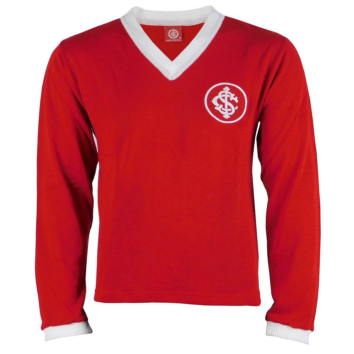 Camisa Internacional Retrô 1975 Figueroa Tricô Manga Longa