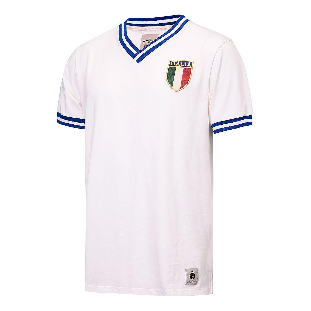 Camisa Itália Retrô Branca Envelhecida