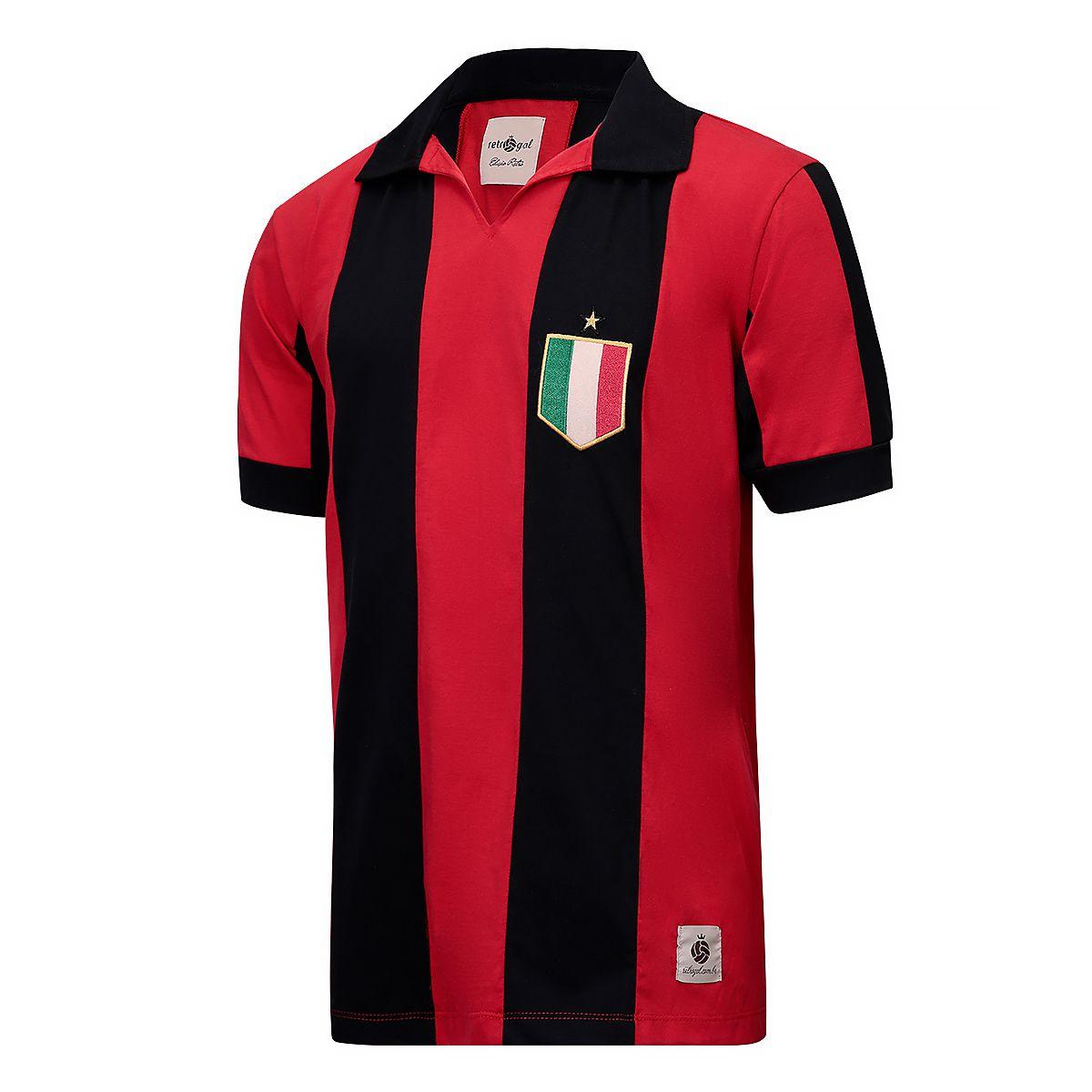 Camisa Milan Retrô Anos 80