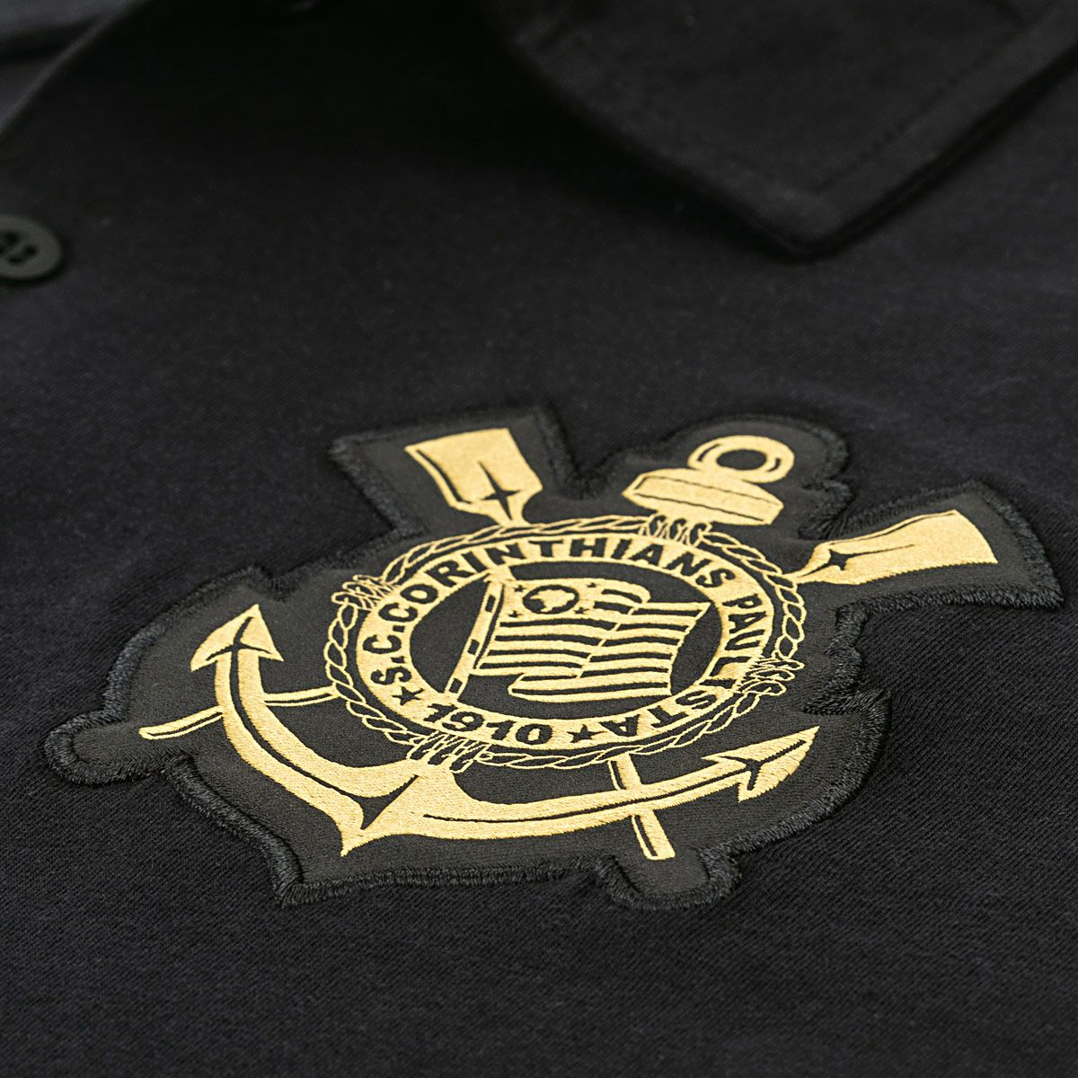 Camisa Polo Corinthians Galão Fundação Ouro