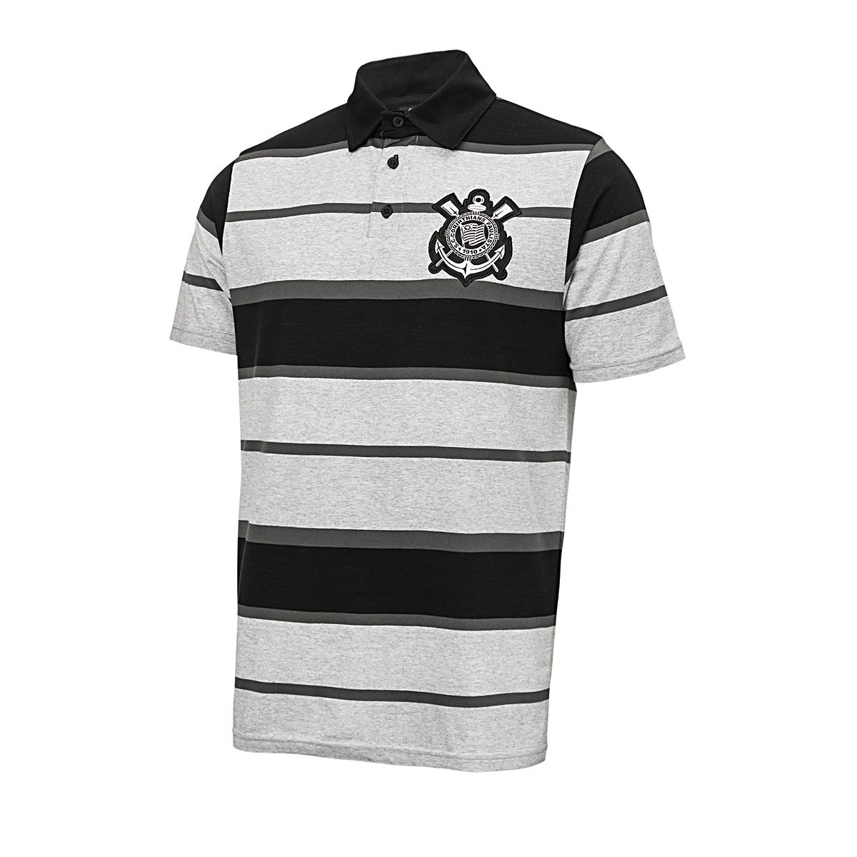 Camisa Polo Corinthians Mescla Listrada Masculina