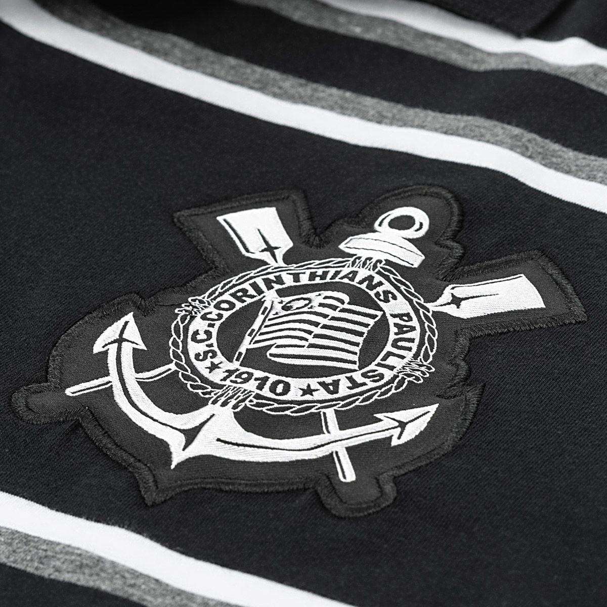 Camisa Polo Corinthians Platinum Listrada Masculina