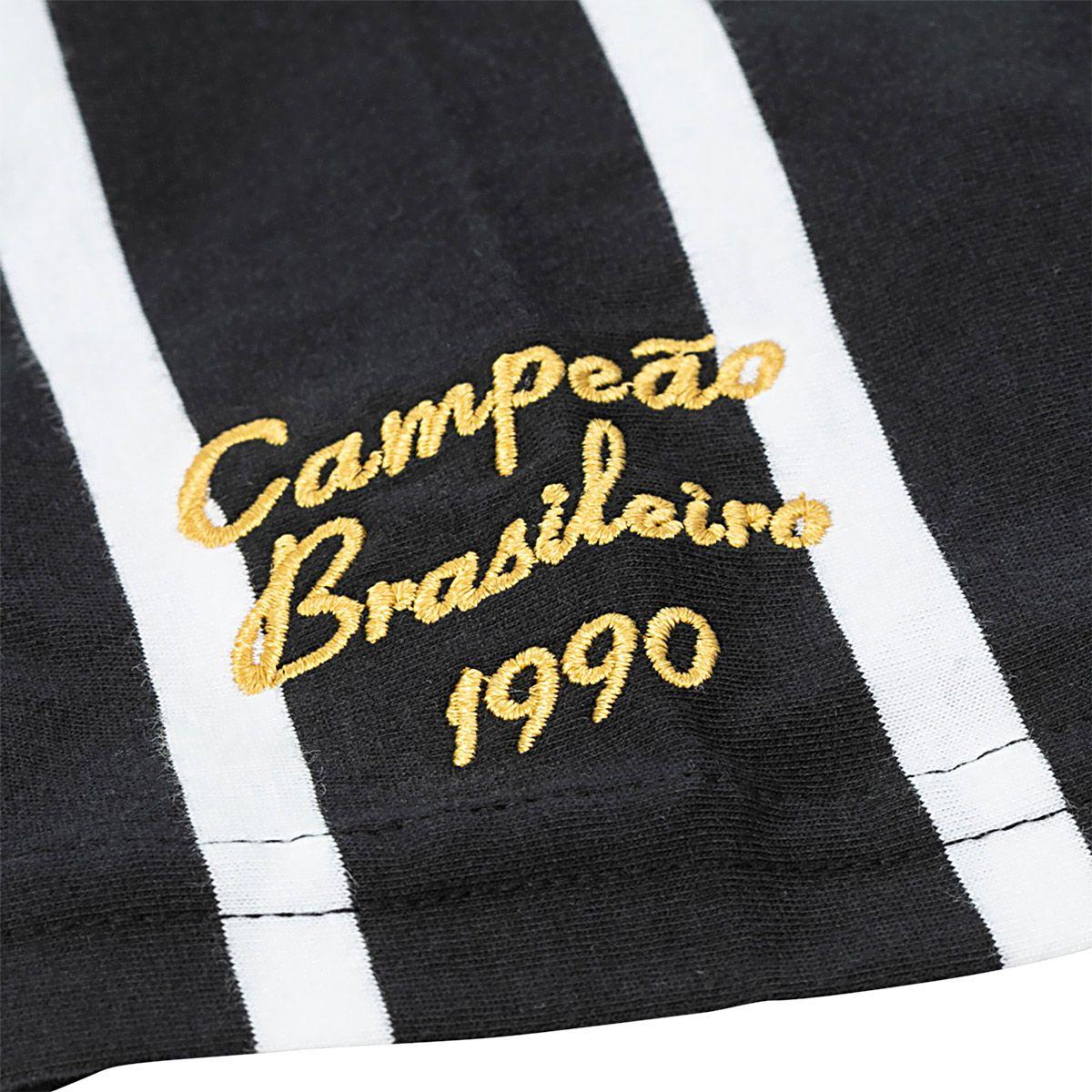 Camisa Polo Retrô Corinthians Réplica 1990 Masculina