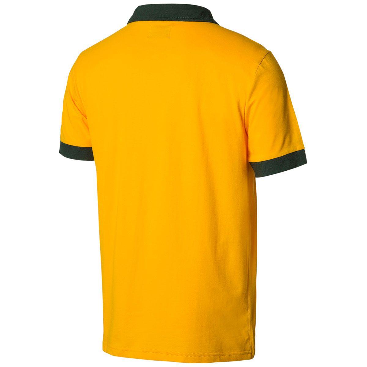 Camisa Polo Retrô Gol Fortaleza Seleção Brasil Torcedor