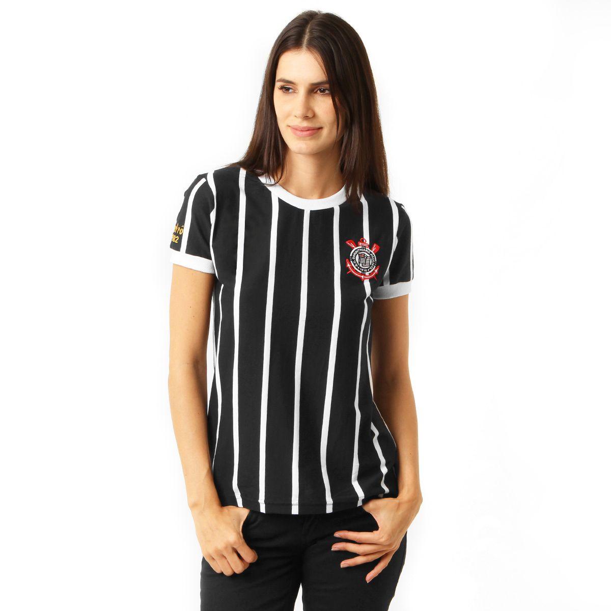 Camisa Retrô Corinthians Democracia 1982 Feminina S/N