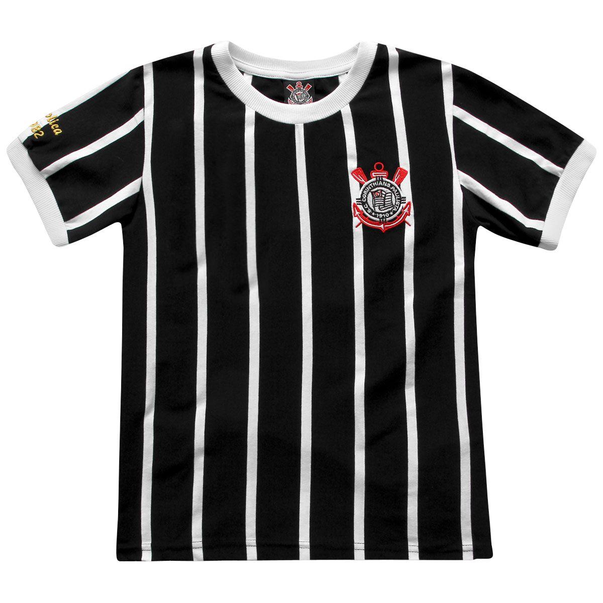 Camisa Retrô Corinthians Democracia 1982 Infantil