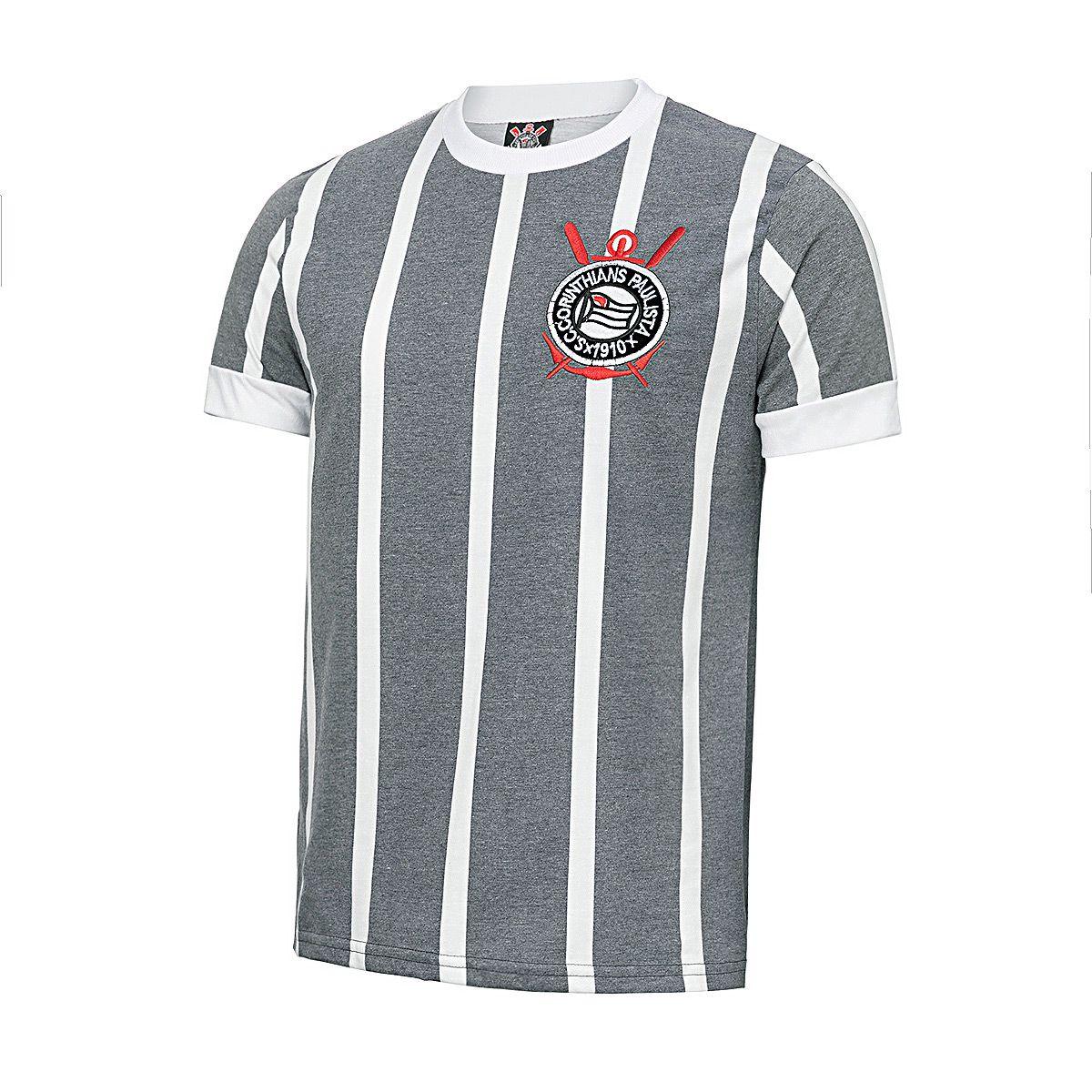Camisa Retrô Corinthians 1977 Estonada Masculina