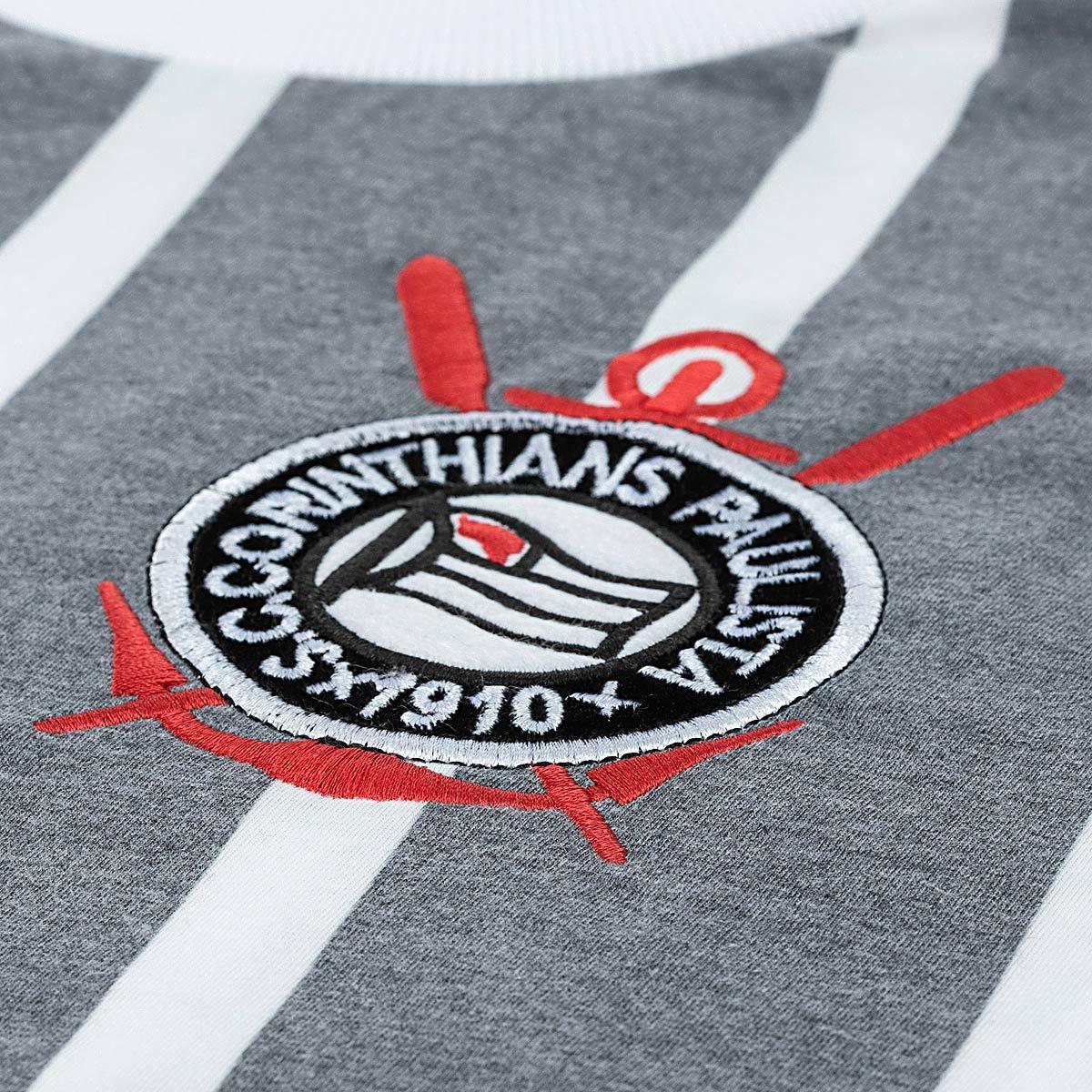 Camisa Retrô Corinthians Réplica 1977 Estonada Masculina