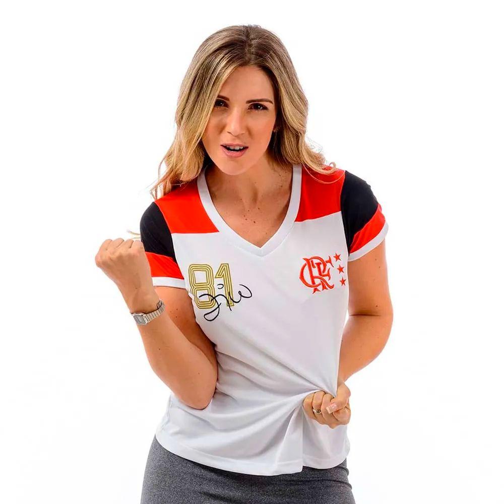 Camisa Retrô Flamengo 81 Zico DRY Feminina