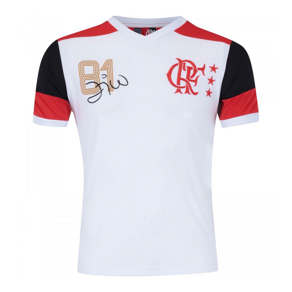 Camisa Retrô Flamengo Mundial 81 Zico DRY